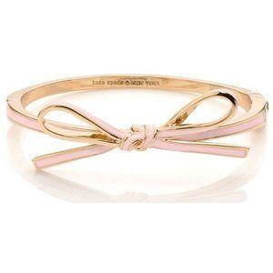 Kate Spade Ribbon Bow Pink & Silver Bracelet